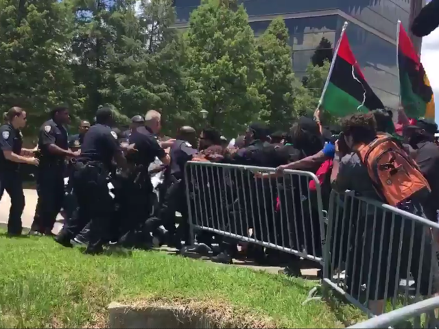 New Black Panther Party Protest in Baton Rouge, La., on Anniversary of Alton Sterling Shooting Leads to Confrontation With Police
