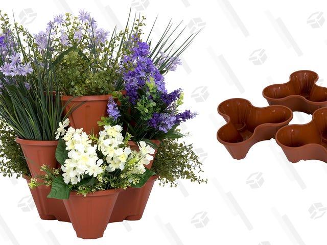 Kasvata kukkien torni tällä 12 dollarin pinottavalle planterille