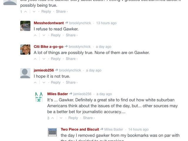 Disqus usuários discutem usando Gawker e se chateado