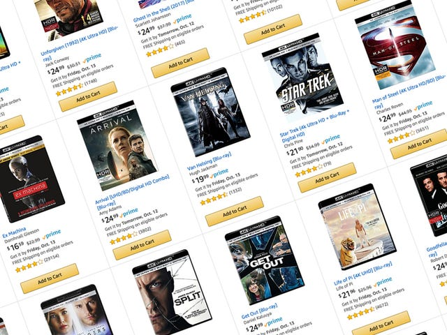 Build Up Your 4K Blu-ray Collection With Amazon's 3-For-$50 Deal