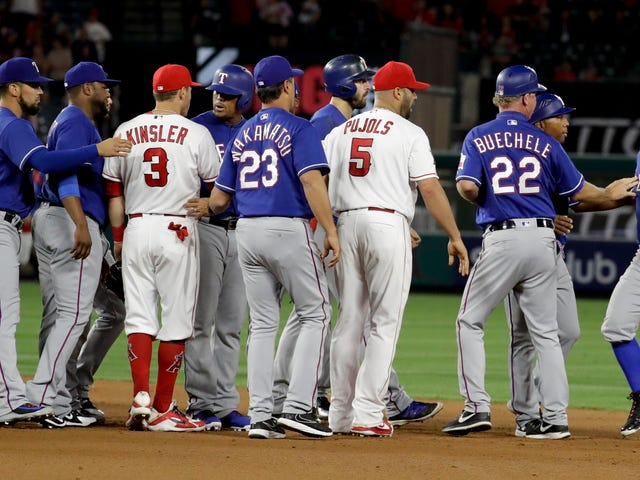 Gnarly Rougned Odor Takeout Slide Sparks Benches-Clearing Hullabaloo