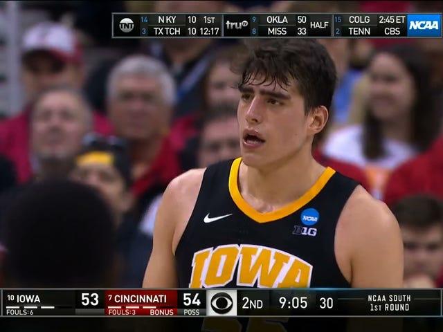 Iowa's Luka Garza Has Extremely Powerful Eyebrows
