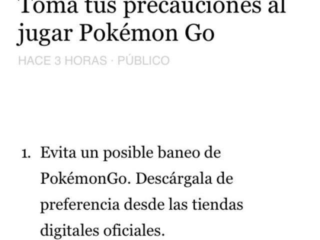 Volvamos a jugar.Pokemon Go.
