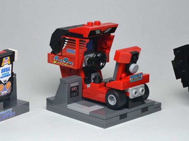 Classic Arcade Machines in Tiny LEGO Form