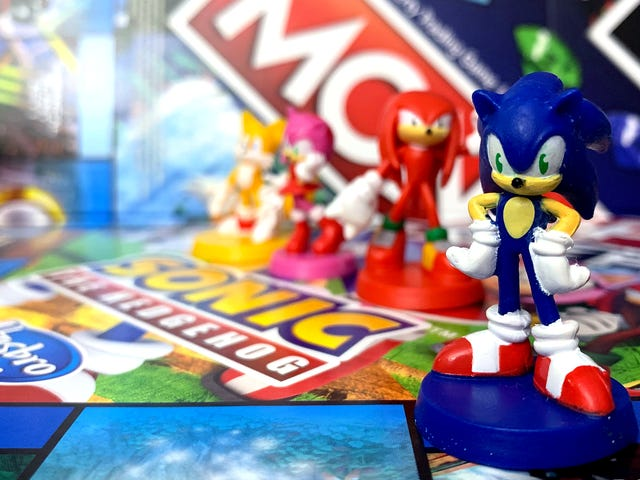 The New Sonic The Hedgehog Monopoly Game Is About Going Fast And Battling Bosses