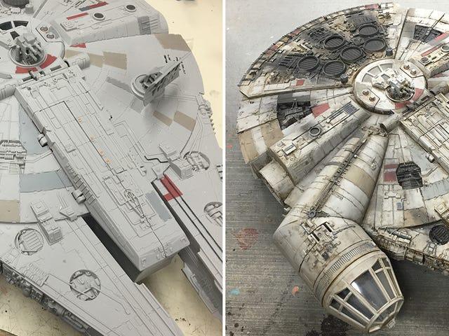 En mesterlig maling job gør denne Millennium Falcon Toy se ud som en <i>Star Wars</i> Movie Prop