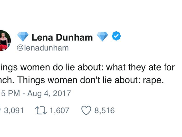 Lena Dunham Is Trash, Issues Apology For Defending Friend Against Rape Accusations