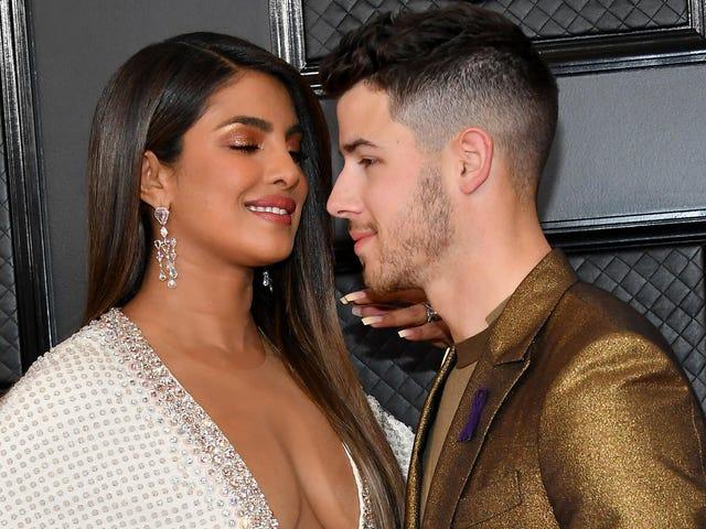 Do You Think Priyanka Chopra Helped Nick Jonas Clean His Teeth at the Grammys?