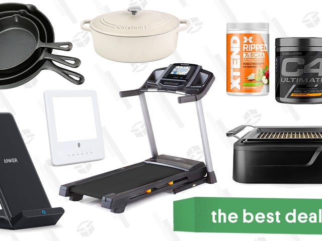 Tuesday's Best Deals: Cuisinart Cast Iron Gold Box, Anker Charging Stand, Smokeless Grills, and More