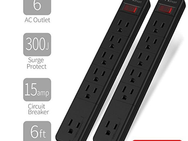 5% Off Basic Surge Protector Power Strip on Amazon