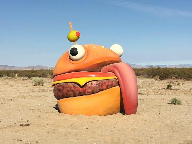 <i>Fortnite</i> Burger从地图中消失,再现在真实的沙漠中