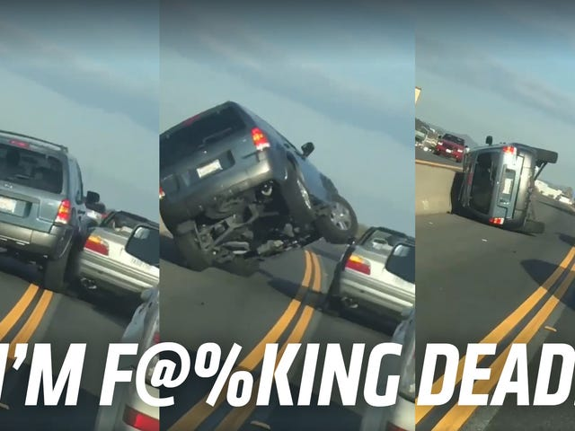 This Is The Most Disastrous Attempt At Road Rage I've Ever Seen