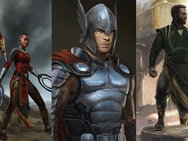 Some Art From Black Panther & Thor: Ragnarok