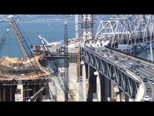 San Francisco - Oakland Bay Bridge contruction time lapse