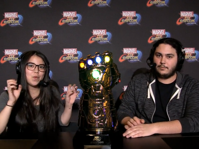 This Weekend's Marvel vs. Capcom Trophy Is A Light-Up Infinity Gauntlet