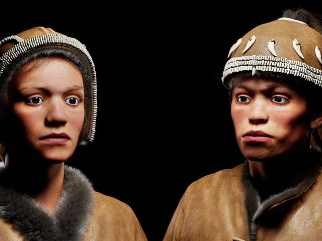 Este es el aspecto real que tenían dos adolescentes que vivieron hace 30.000 años, cuando aún había mamuts