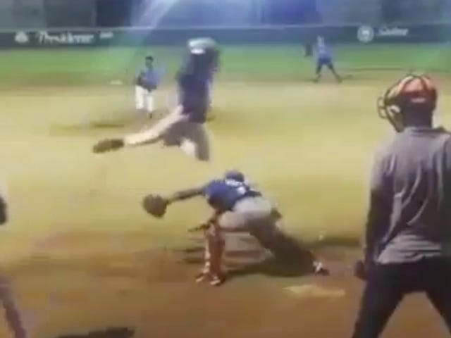 Dominican Baseball Child Briefly Becomes Superman