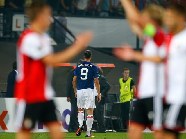 Mighty Manchester United Futbolcunun NIT'inde;  Düşük Rakiplere Karşı Ls Almak Geri