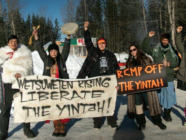 Kanadische Polizei überfiel indigenes Territorium, um Platz für eine Pipeline zu machen