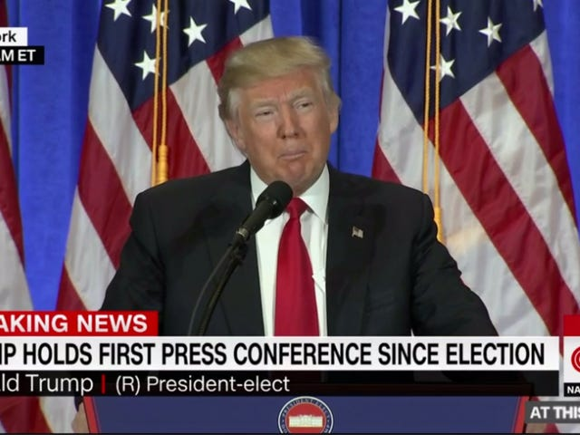 A Rundown of Donald Trump's Incredibly Messy First Press Conference as President-Elect