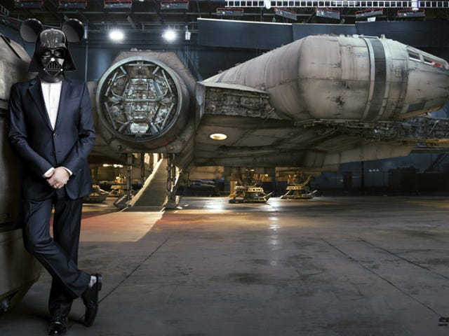 Clearest photo yet of the new Millennium Falcon—featuringDarth Iger
