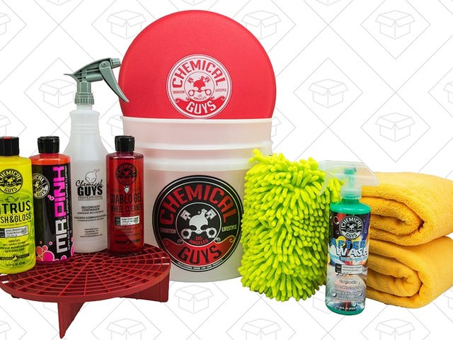 You'll Have the Shiniest Car on the Block With This Chemical Guys Bucket Kit