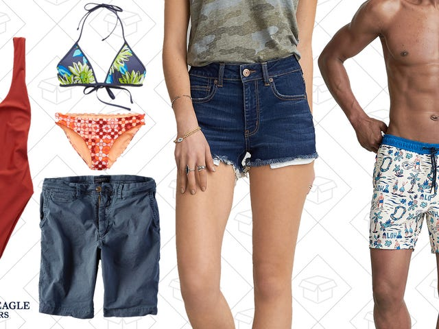 If You've Got $30 To Spend, American Eagle Has Swimsuits and Shorts For You