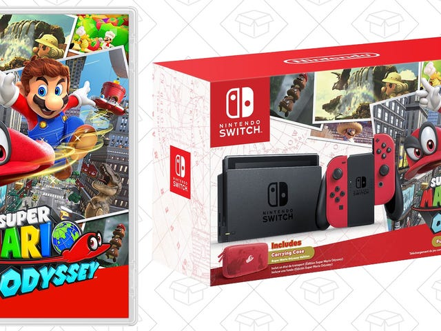 Preorder Super Mario Odyssey For $48, or Get the Mario Switch Console Bundle While It's In Stock