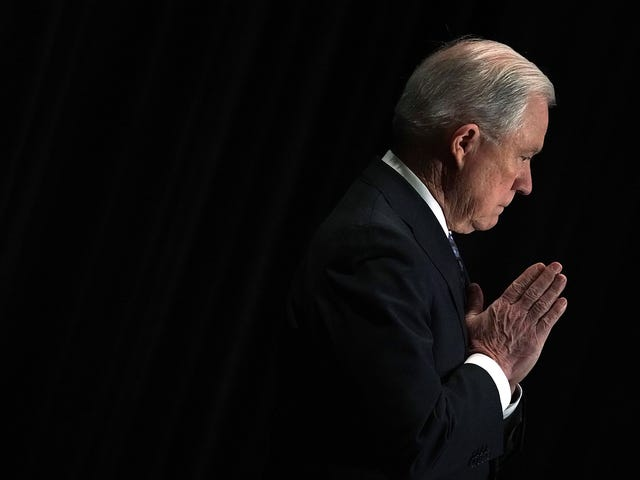 Jeff Sessions Quotes the Bible to Justify Abusing Immigrants; God Laughs