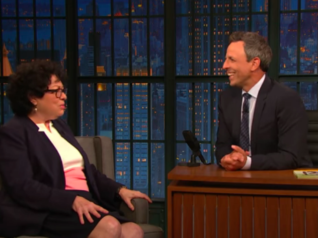 Justice Sotomayor tells Seth Meyers her nickname for Supreme Court colleague Ruth Bader Ginsburg