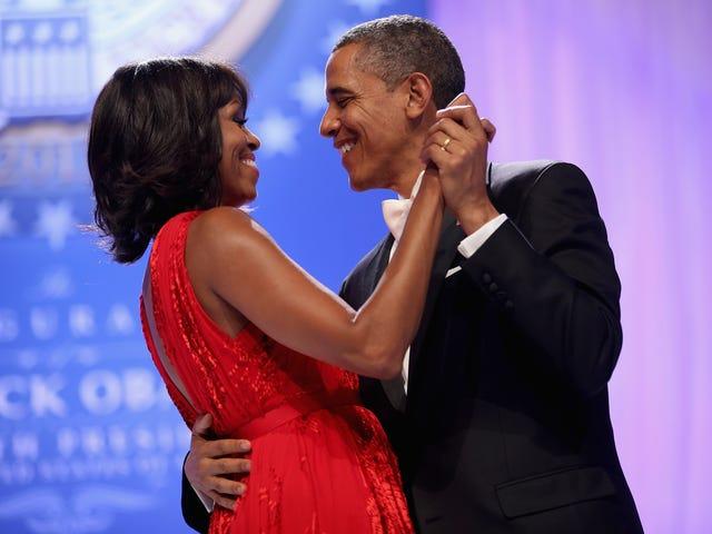 '私はオタクを満たしていたと思う:'ミシェルオバマは彼女との初めての出会いを共有するバラクオバマ