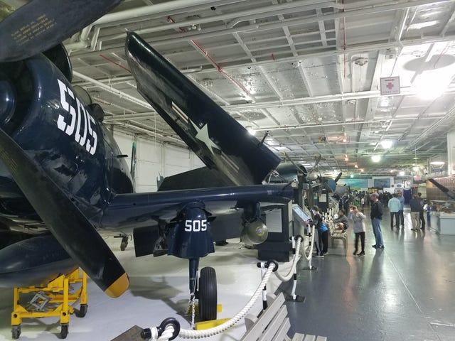 Sleeping on the USS Yorktown tonight