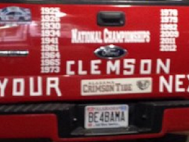 "Extreme ""Bama Truck Is Very"" Bama"