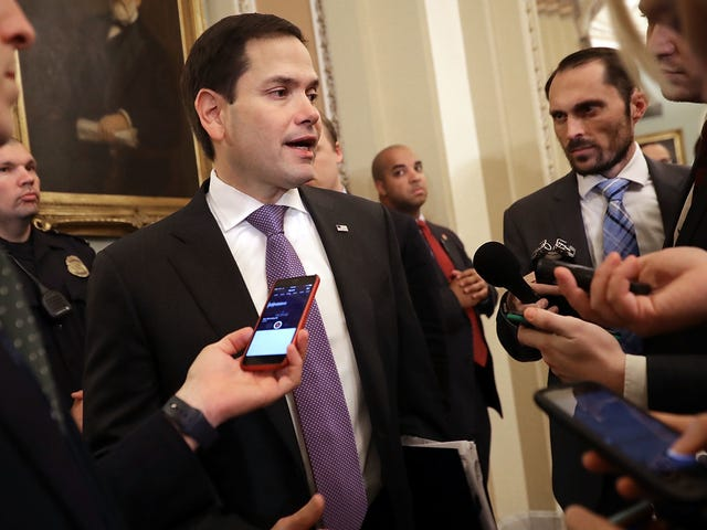 Senator Marco Rubio takes time out from his busy schedule to defend Chick-Fil-A