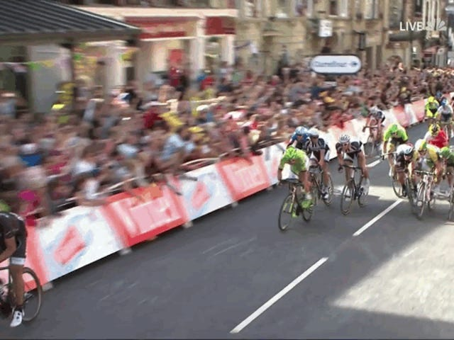 Mark Cavendish Eats It At The End Of First Stage Of Tour de France