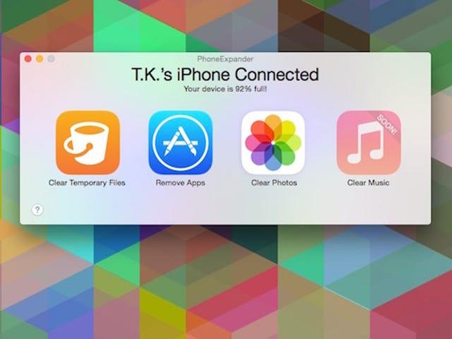 PhoneExpander Cepat Membebaskan Penyimpanan pada Peranti iOS Anda