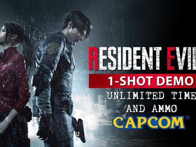 Resident Evil 2 - 1-Shot PC Demo Gameplay UNLIMITED TIME & AMMO