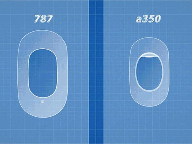 Warum sind die Windows auf dem Boeing 787 Dreamliner so viel größer als normale Flugzeuge?