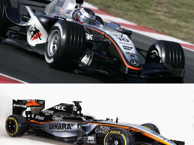 Hmm - 2005 McLaren εναντίον του 2015 Force India Liveries