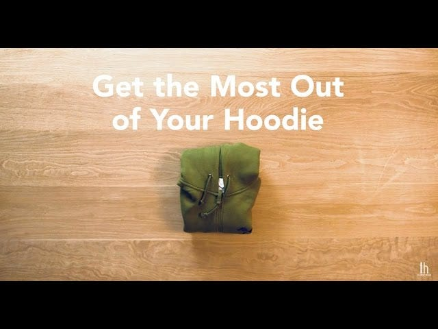 How to Fold Your Hoodie Into a Pillow or a Laptop Bag