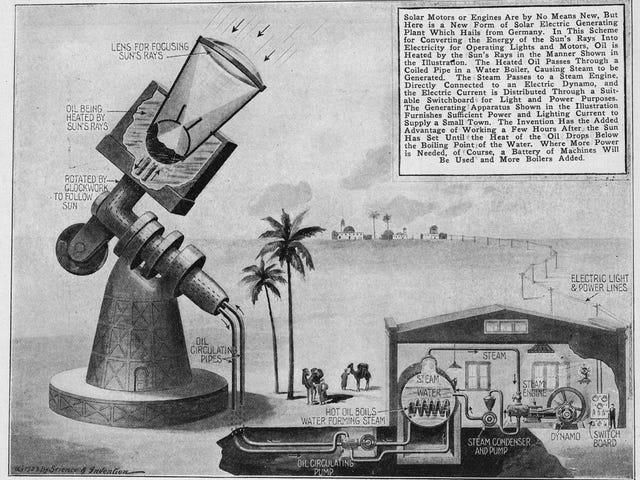 Cette centrale solaire futuriste de 1923 a été conçue pour illuminer le monde
