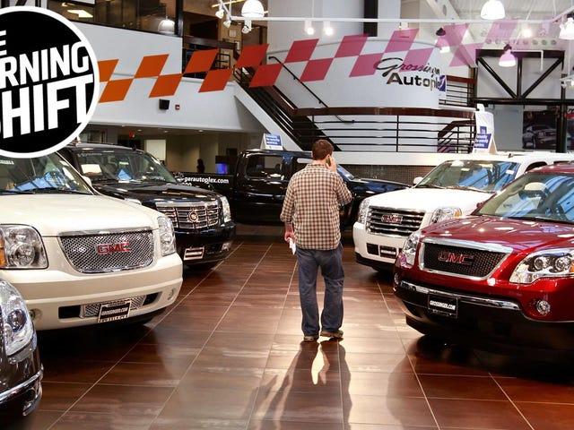 Продажи автомобилей просто продолжают падать