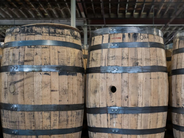 Collapsed bourbon distillery literally picks up the pieces, one barrel at a time