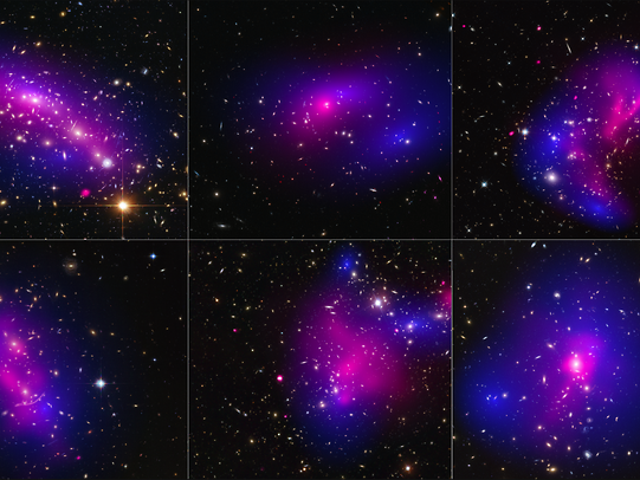 This Is What Happens When Dark Matter Collides With Itself