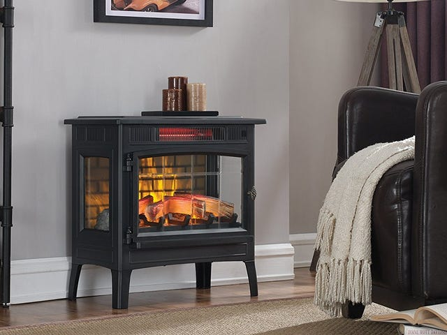 Cozy Up to This Faux Fireplace Heater for $117