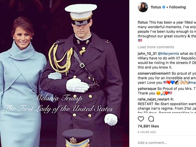 Melania Trump จัดงานปีแรกของเธอในฐานะ FLOTUS กับเพื่อนบางคน