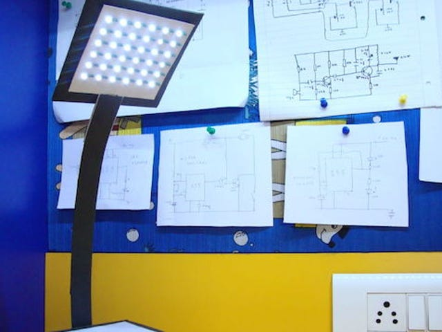 Byg din egen bærbare, genopladelige bordlampe