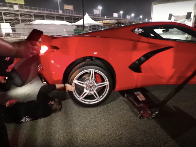 Someone Already Broke A Modified 2020 Corvette At The Drag Strip
