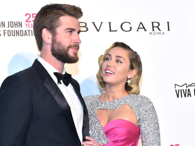 Miley Cyrus and Liam Hemsworth May or May Not Be Married, but They Definitely Had Cake