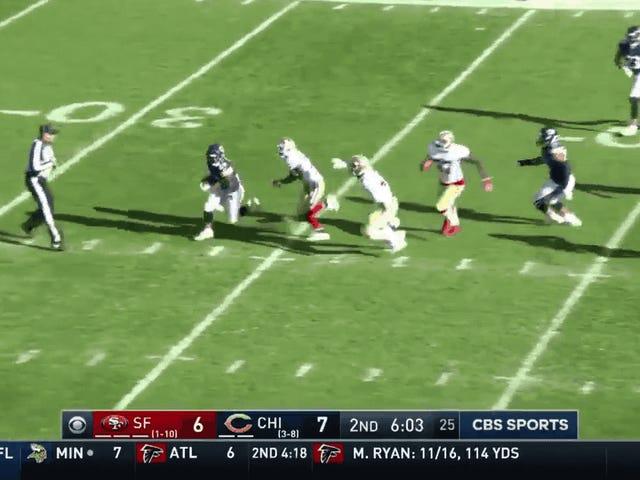 Tarik Cohen Berjalan Seperti 90 Yard Untuk 61-Yard Punt Return TD
